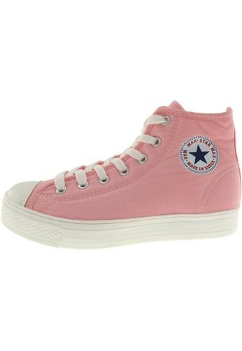 Maxstar 粉紅色 新款韩国鞋C1-7H時尚帆布布混合女粉紅色 US Women Size MA345SH34HDLTW_1