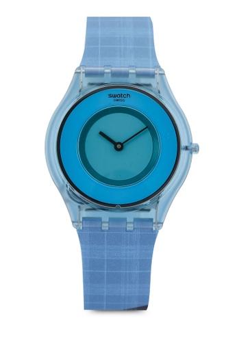 Swatch blue Sari Madras 02 Watch 20DCAAC4E45998GS_1