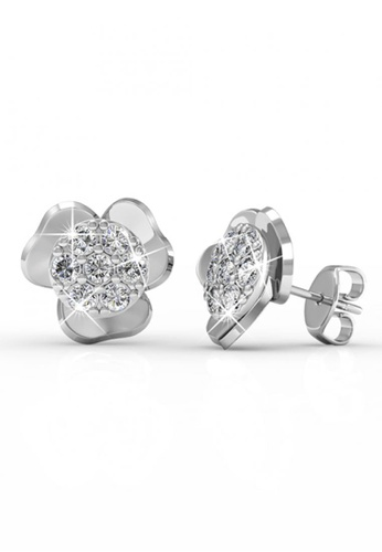 Her Jewellery silver Swarovski® Crystals -Florence Solitaire Earrings (18K White Gold Plated) Her Jewellery HE581AC0RDQJMY_1
