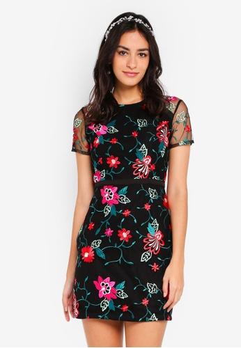 ZALORA multi Bridesmaid Embroidery A-Line Dress 1CC8AAA78222E3GS_1