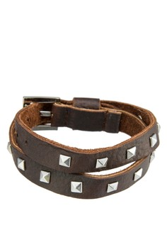 Men's Wrap Around Leather Wristband