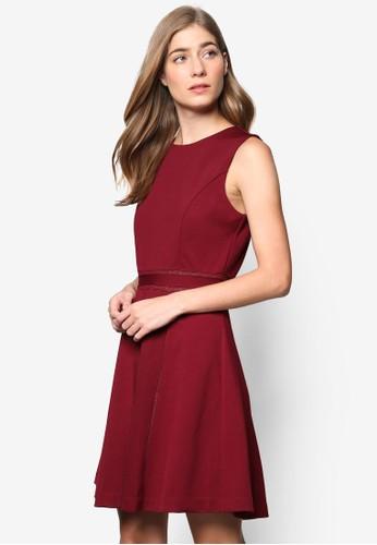 Collection 蕾絲滾邊無袖修身洋裝, 服飾zalora 包包 ptt, 洋裝