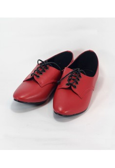 Image of Asha Red Flat Shoes