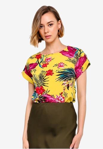 1080e766de Buy Dorothy Perkins Lime Tropical Print Top Online on ZALORA Singapore