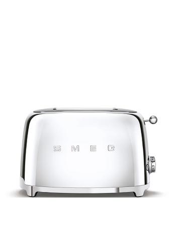 SMEG TSF01SSUK 2-Slice Toaster, Chrome 9A4EBHL4C86E24GS_1