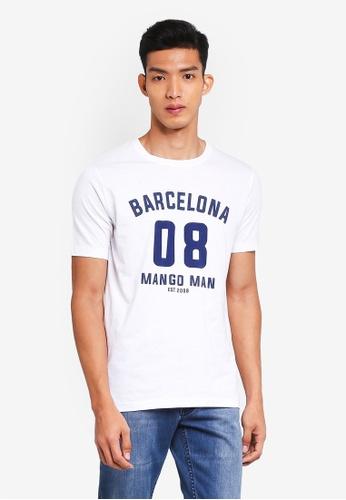 MANGO Man 白色 印花T恤 13851AA2A762AFGS_1