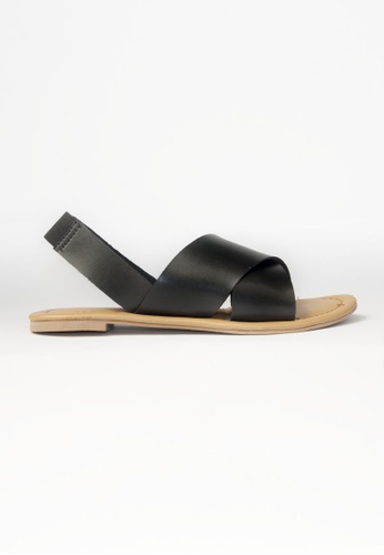 HDY black HDY Stella Flats Sandals HD484SH70VYFPH_1