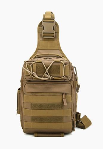 Lara brown Men's Outdoor Sports Chest Bag Cross-body Bag - Brown 36639AC9FEFEDAGS_1