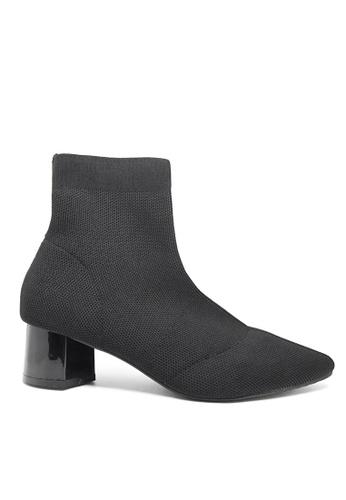 Twenty Eight Shoes 黑色 尖頭織布踝靴088 F4F86SHF77F2C9GS_1