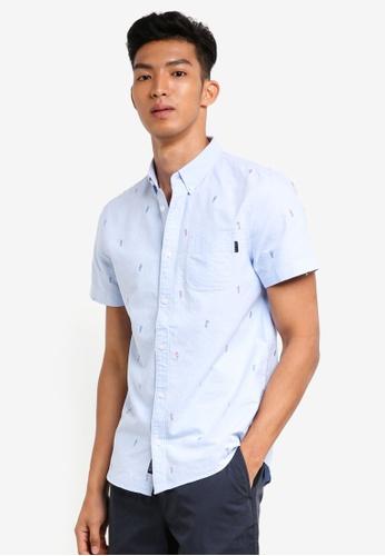 Jack Wills 藍色 短袖刺繡襯衫 6167DAA86F44C6GS_1