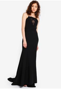016ec64e26 JARLO LONDON black Salina Open Back Dress 5D367AAED25F2BGS 1