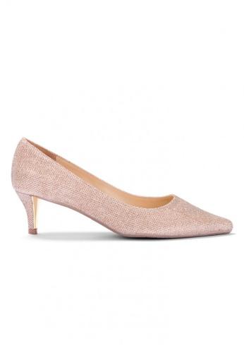 Shu Talk gold Glitter Me Elegant Medium High Heels 2A63ESH56072D5GS_1