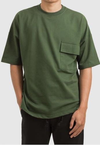 THE GOODS DEPT green THE GOODS DEPT - Tom Pocket T-Shirt Dark Green C70F3AADCE30A7GS_1