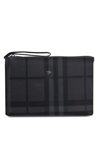04eddffda8 Swiss Polo grey Check Clutch Bag EE685AC8871EC3GS 1