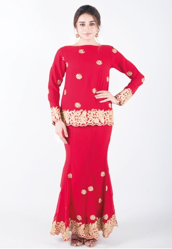 Madhuri Henna Red from Ann Khan Exclusive in Red and Pink and Orange