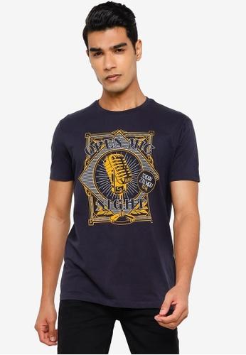 Springfield navy Guitar T-Shirt B44E2AA354335BGS_1
