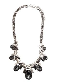 Antique Cross Gem Necklace