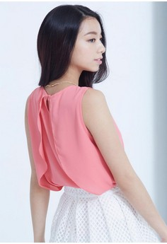 [IMPORTED] Refined Beauty Chiffon Top - Pink