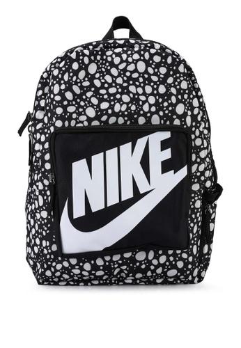 Nike black Classic Printed Backpack DB766KCAE7754BGS_1