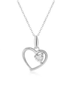 63400b0f2 Silverworks silver Zirconia Heart In Open Heart Harmony Necklace  8E12AAC01AB72FGS_1