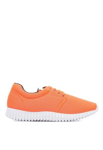 Life8 orange Water Repellent Macaron Weave Elastic Sneakers-09620-Orange LI286SH0RN1XMY_1