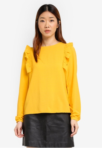 Vero Moda yellow Long Sleeve Top 50F2FAA540D87EGS_1