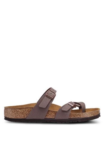 Birkenstock brown Mayari Birko-Flor Nubuck Sandals 6DC97SHE6CC42EGS_1