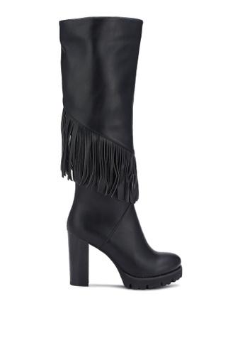 BETSY black Calf High Heel Boots BE207SH0REPRMY_1