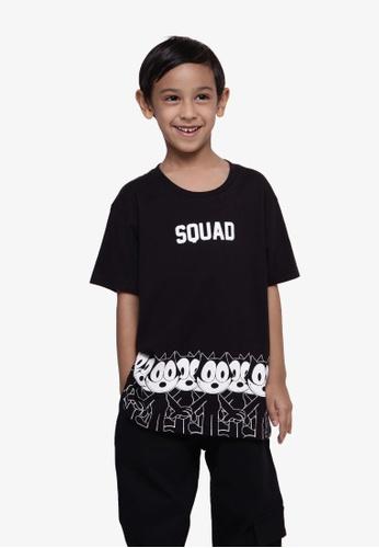 SODA black Felix The Cat Squad Team Print T-Shirt - Black ECFDBKA2C900AAGS_1