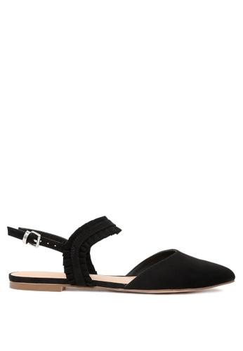 London Rag black Fae Pointed Toe Flat Sandals 27096SH0FAC8E7GS_1