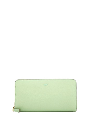 Braun Buffel green Ophelia Zip Long Wallet in Green Ash 3C9CCAC7758C7BGS_1