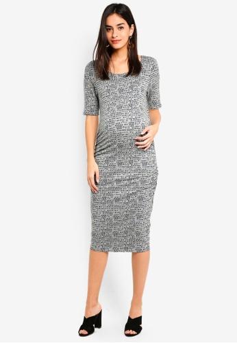 Noppies grey Maternity Carly 1/2 Sleeve Dress 62109AA5239E7DGS_1