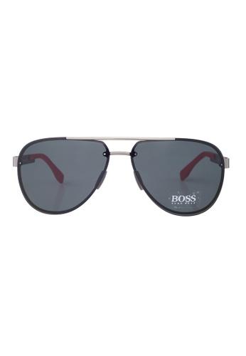 Hugo Boss grey HUGO BOSS Sunglasses 0811/FS HXRP9 HU898AC40YPBMY_1