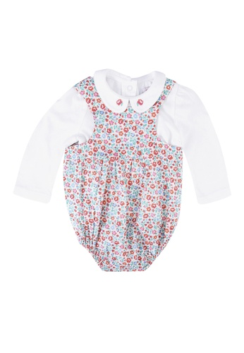 Cath Kidston multi Floral Baby Romper and T-Shirt Set 3CF56KA5F27C98GS_1