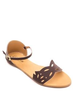 Cutout Flat Sandals