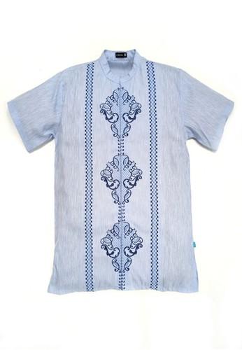 Versail blue Versail Baju Muslim Koko Pria Bordir Bunga Biru PO6 1CD63AAAF7CEDBGS_1