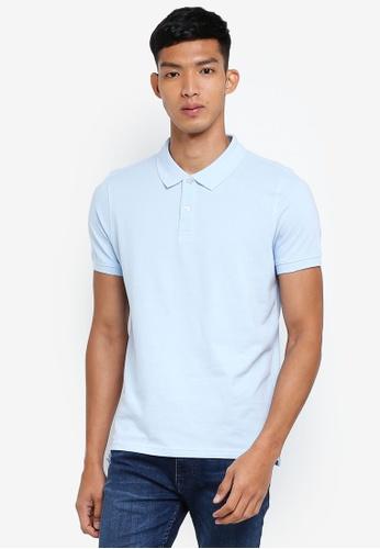 OVS blue Basic Polo Shirt C9E99AA3AF5133GS_1