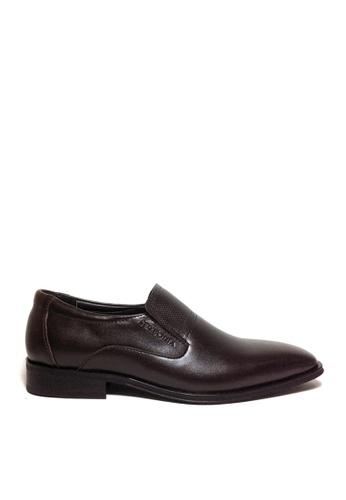 SEMBONIA brown SEMBONIA Men Calf Leather Business Shoe (Dark Brown) 02CE1SH87706F7GS_1