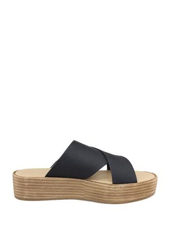 London Rag black Freida Flatform Sandals F9E1ESH8AF2D25GS_1