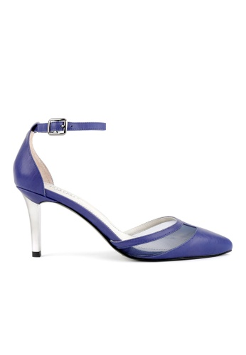 Joy & Peace blue Mesh Panel Pumps JO458SH83QJWHK_1