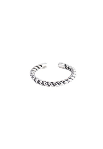 OrBeing white Premium S925 Sliver Twine Ring D90FFACB4CE6CCGS_1