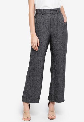 Zalia grey Basic Wide Leg Trousers 66AB2AA79B8BFBGS_1