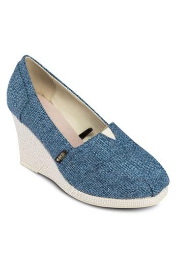 Shingeta 簡約編織楔形鞋, zalora 鞋評價女鞋, 楔形鞋