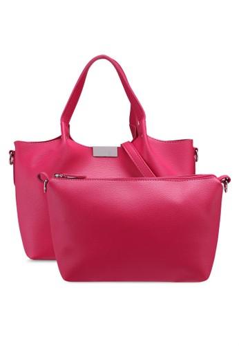 OVS pink Textured Handbag With Insert A332EAC98021EEGS_1