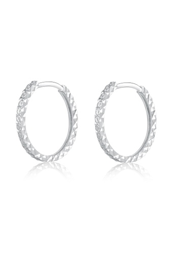 MaBelle silver 14K/585 White Color Gold Gold Hoop Earrings 3EF71ACB6CC858GS_1