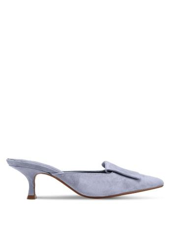 Mango purple Heel Leather Mules 4F1EASHEAA99DDGS_1