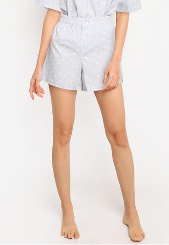 GAP grey Poplin Shorts 6B849AA0ADAC82GS_1