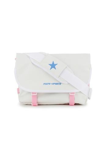 Peeps white Essential Messenger Bag 636CBAC664E6FAGS_1