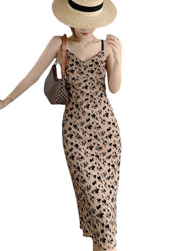 Sunnydaysweety multi Floral Slip Midi One Piece Dress A21031932 989C1AA6DDC08CGS_1