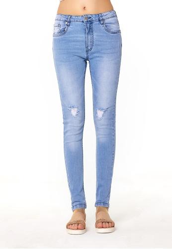 London Rag blue Light Blue Acid Wash Distressed Jeans A4954AA4A0F826GS_1